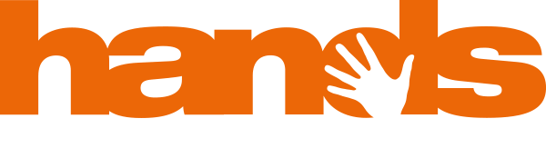 Logo hands in het oranje
