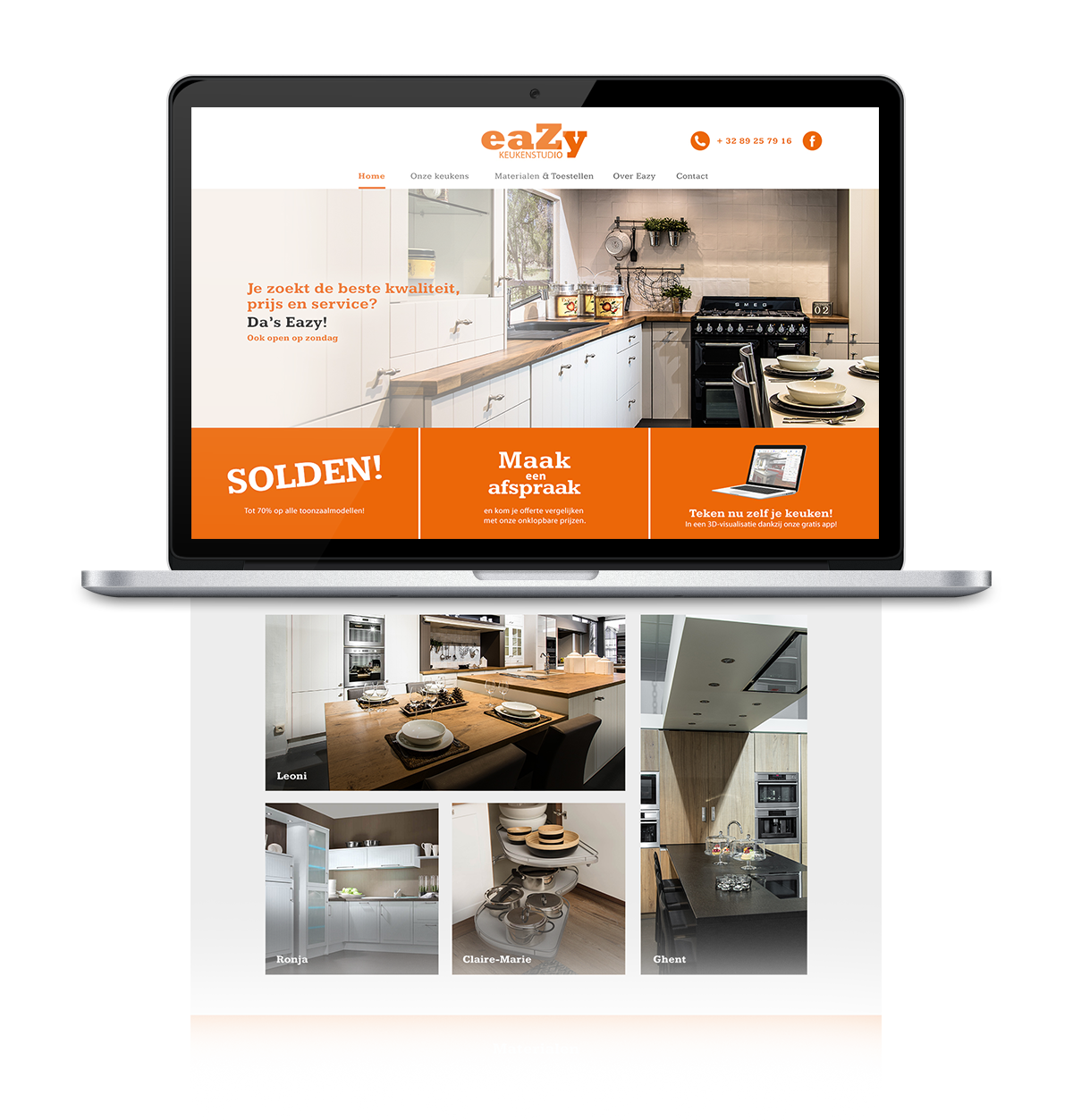 Eazy Keukenstudio website